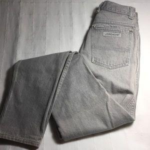 """Vintage Jordache skinny jeans 26"""" size 7 28 gray"""